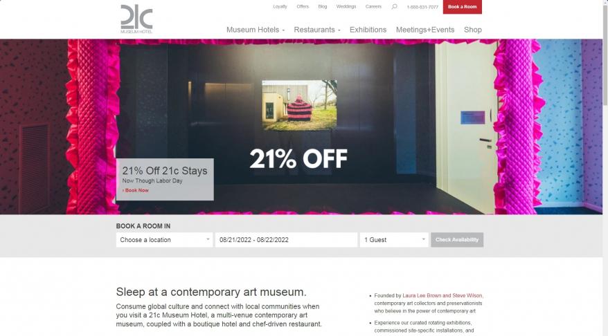 Art Museum, Boutique Hotel & Restaurant | 21c Museum Hotels
