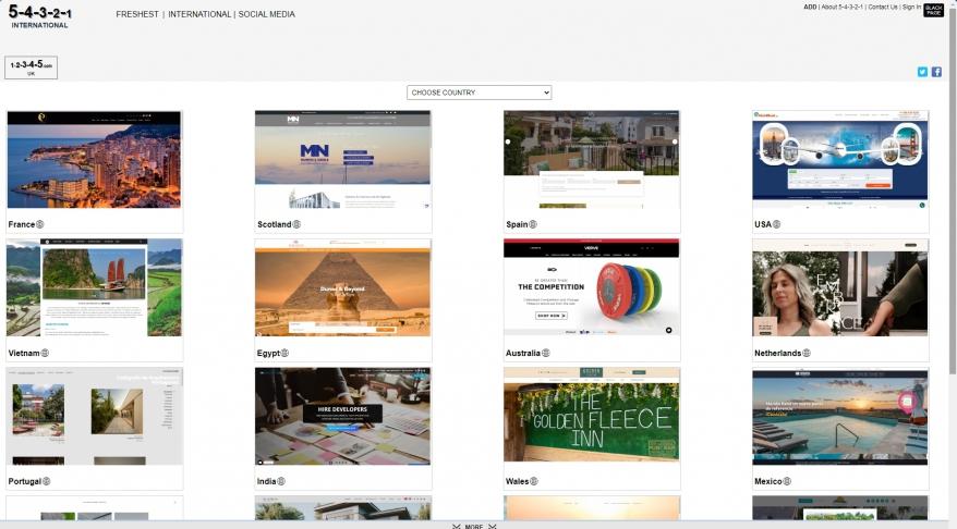 5-4-3-2-1 Website Image Directory