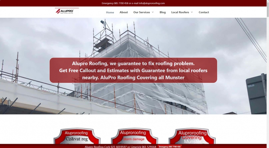 AluPro Roofing Contractors Kerry, Cork, Clare, Tipperary and Limerick.