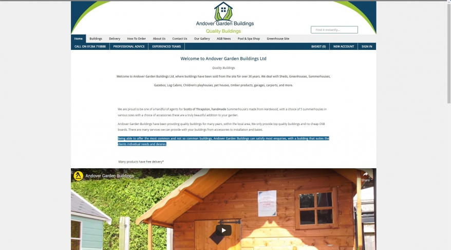 Sheds Hampshire and Wiltshire. Number one for sheds, summerhouses, greenhouses, concrete garages, Log cabins. - AndoverGardenBuildings.co.uk