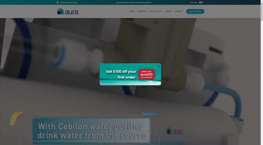 Aura Cebilon Water Purification Devices - Aura Cebilon UK