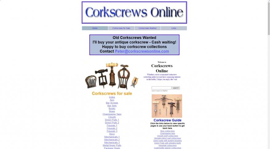 Corkscrews Online