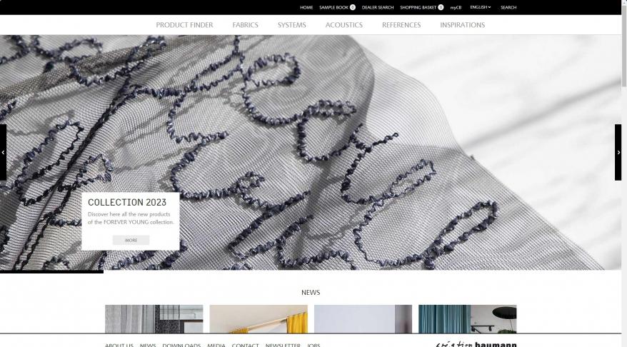 Hochwertige Textilien, Vorhangsysteme - Création Baumann