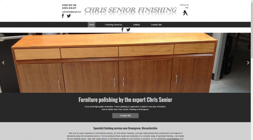 Chris Senior Finishing