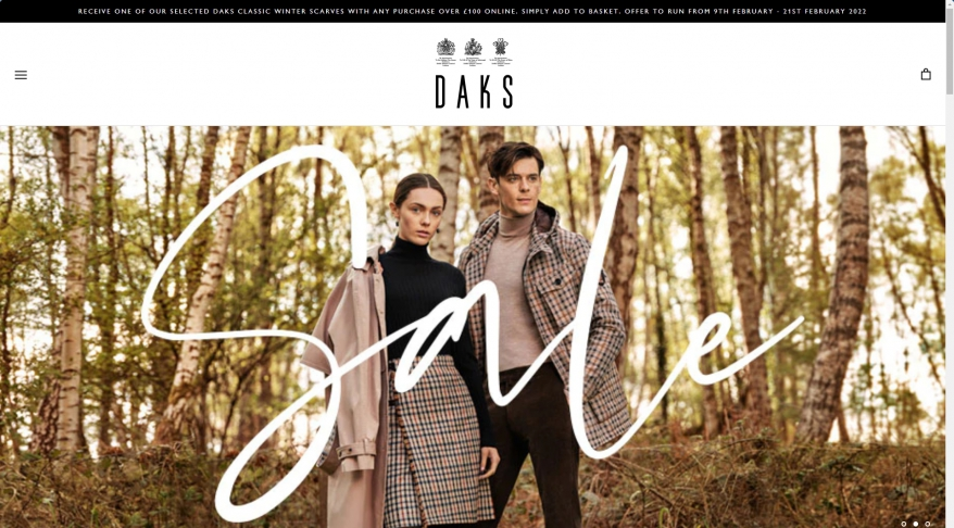 Daks.com - Designing Luxury Fashion for Men and Women since 1894
