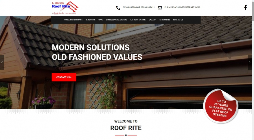 D Simpson Roof Rite Experienced Roofer and Roofing Company Bishop Auckland | Flat Roof Systems, Conservatory Roofs, Re-Roofing, UPVC And Dry Ridge/Verge Systems