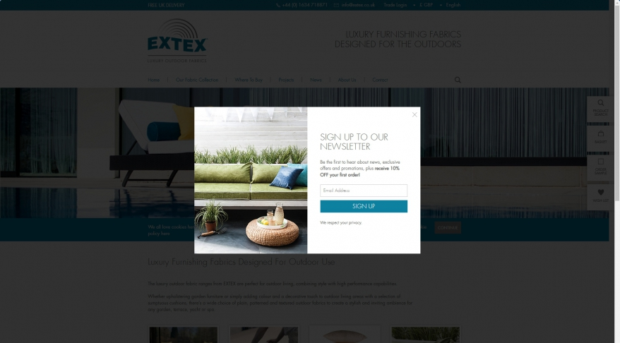 Extex Outdoor Fabrics by Marina Mill