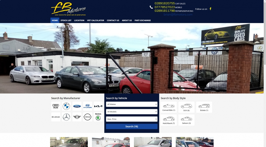 Used cars Newtownards, Used Car Dealer in County Down | FB Motors - Stock List