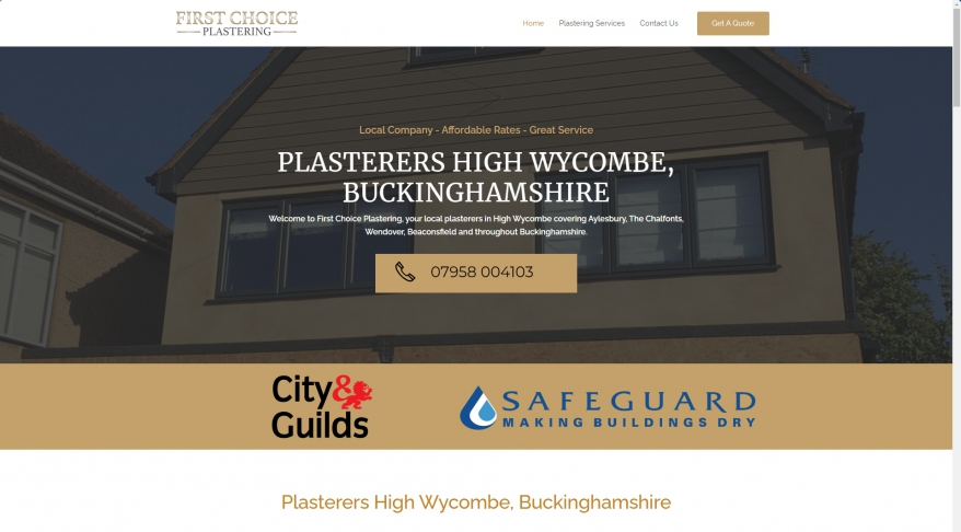 Plasterers High Wycombe - Plasterers Buckinghamshire - First Choice Plastering