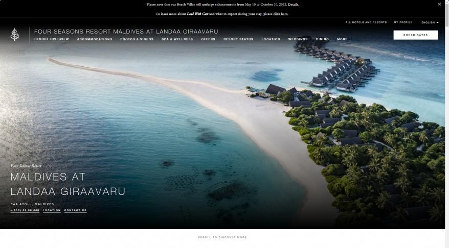 Maldives Luxury Resort | Four Seasons Maldives Landaa Giraavaru