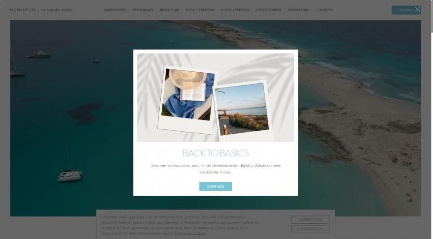 Gecko Beach Club. Hotel boutique en Formentera