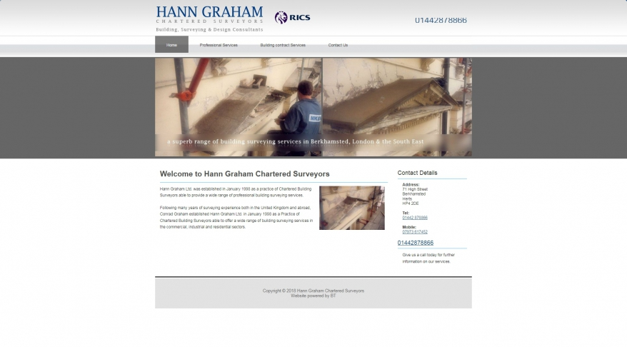 Building Surveyors in Berkhamsted : Hann Graham Chartered Surveyors