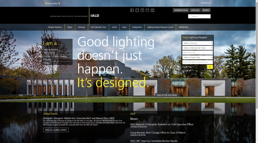 IALD - Home - International Association of Lighting Designers