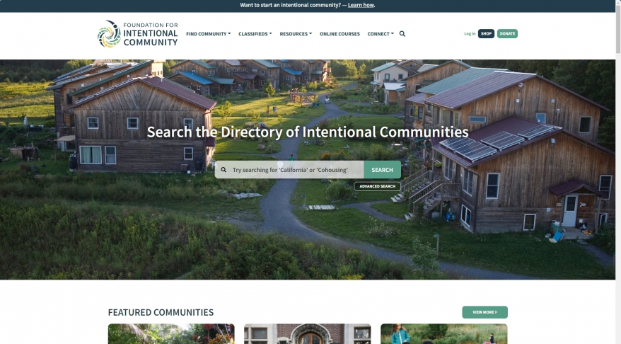 Fellowship for Intentional Community