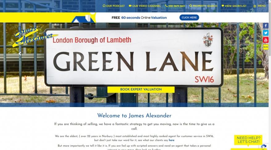 James Alexander Estate Agents , Norbury