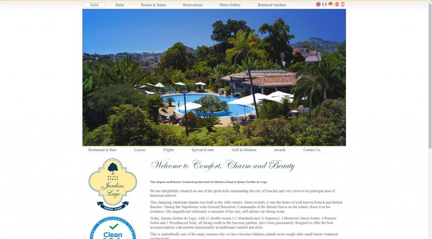 Madeira island\'s luxury botanical garden hotel - Quinta Jardins do Lago