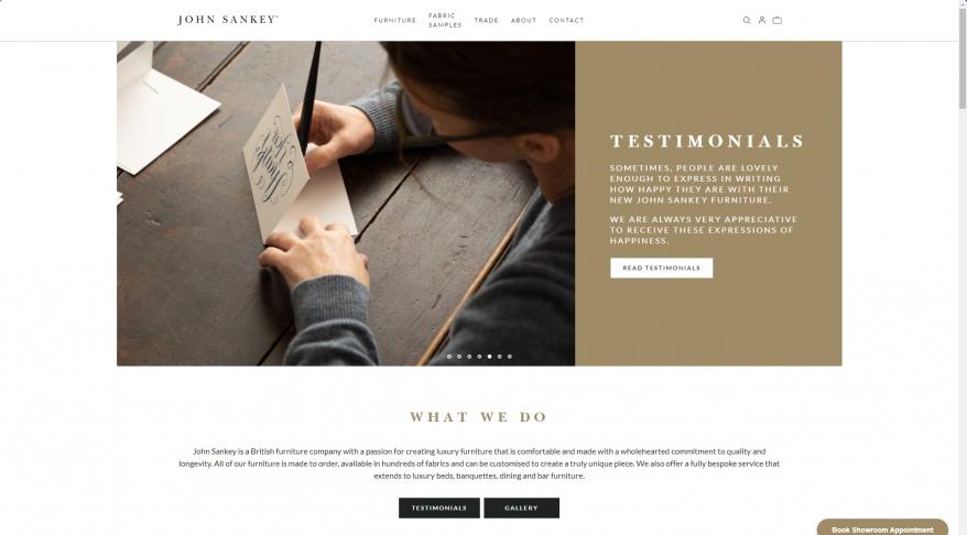 John Sankey - Handmade luxury British sofas, chairs and furniture