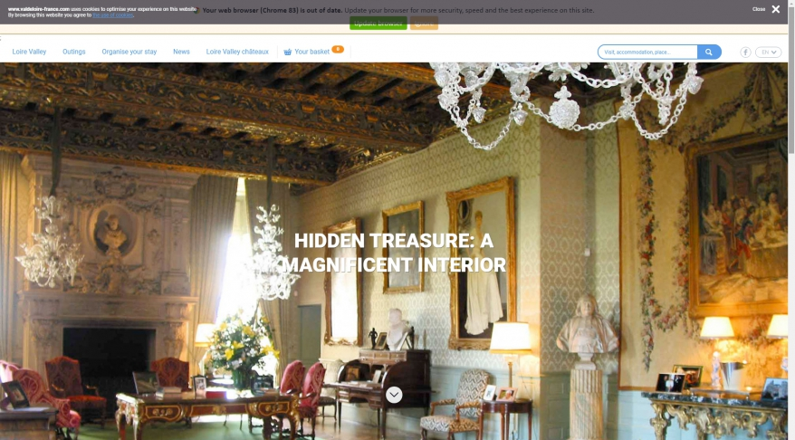 Hidden treasure: a magnificent interior, The Loire Valley, a journey through France