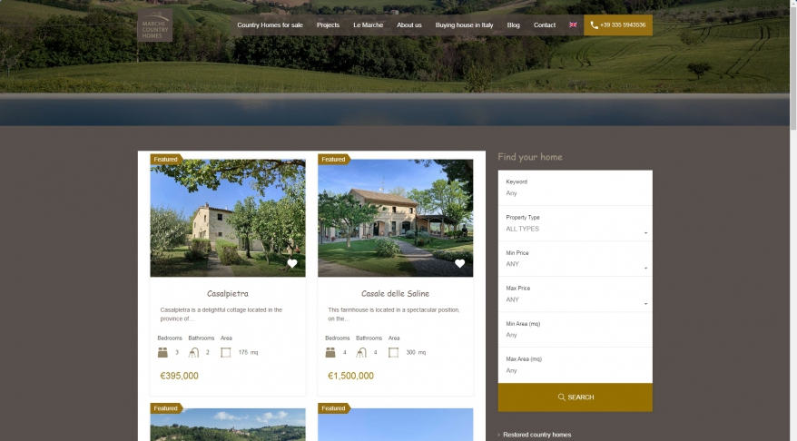 Marche Country Homes: Houses and country houses for sale in Italy