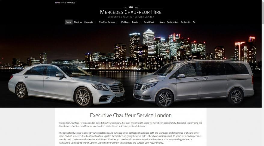 Chauffeur Service London | London Chauffeur | Mercedes Chauffeur Hire London