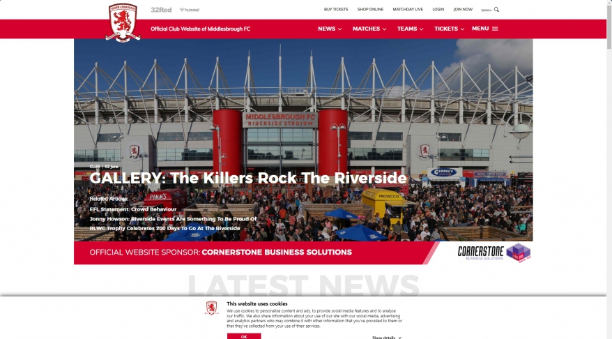 Official Club Website Of The Boro | Middlesbrough FC