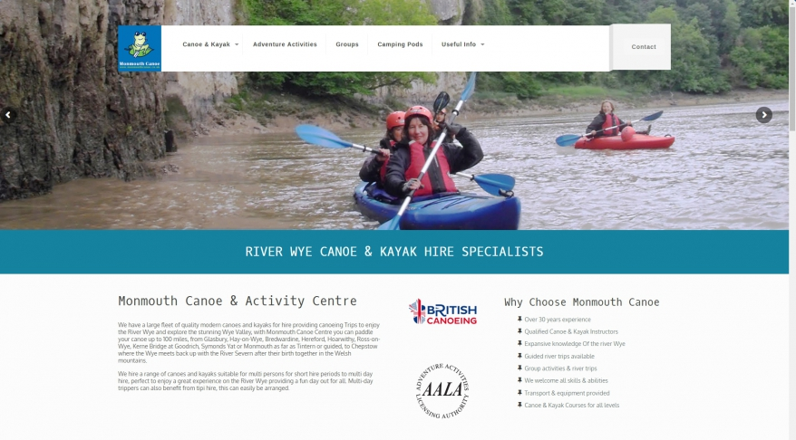 Monmouth Canoe & Activity Centre Ltd