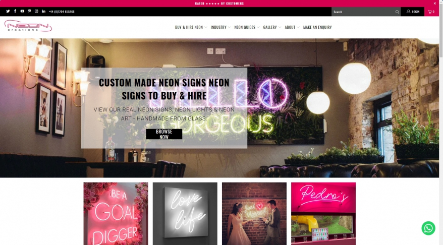 Neon Lights and Neon Signs Designers and Manufacturers