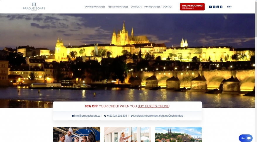 Prague Boats - a large variety of river cruises on the Vltava river in Prague