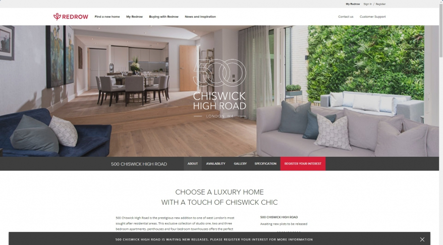 500 Chiswick High Road   Luxury Apartments in London   Redrow