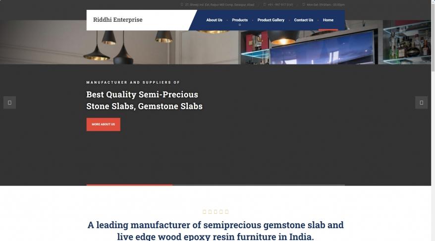 Riddhi Enterprise – Semi precious gem stone slab manufacturer, epoxy resin wood manufacturer and exporter India