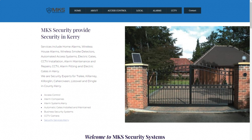 MKS Home and Business Security CCTV and Electric Gates in Kerry