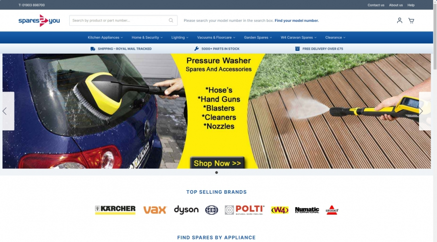 Spare Parts & Accessories for Electrical Appliances from Top Brands - Spares2you UK