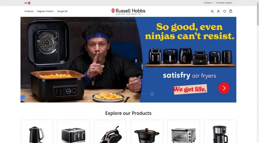 Russell Hobbs UK | Buy Kettles, Toasters, Irons & More Online