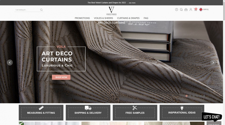 Voila Voile Curtains and Blinds