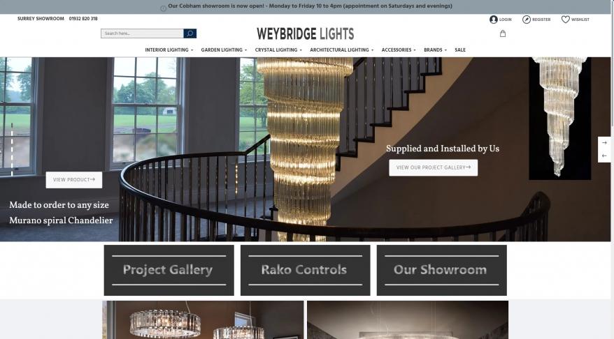 Weybridge Lights | Lighting Shop Surrey | Designer Lighting