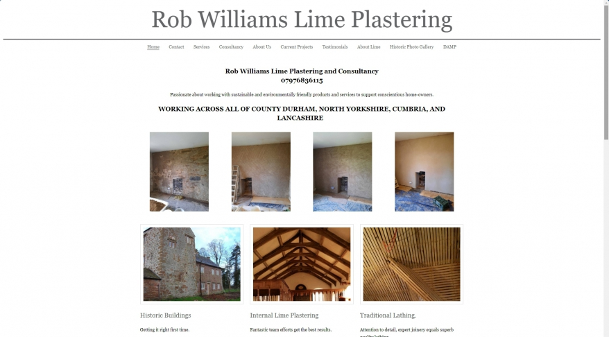 Rob Williams Lime Plastering