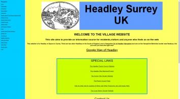 The Website for Headley Surrey UK