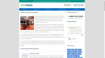 Commercial Carpet Cleaning | Kent | East Sussex | AAAClean