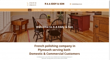 A A Eddy & Son - French polishing experts in Plymouth