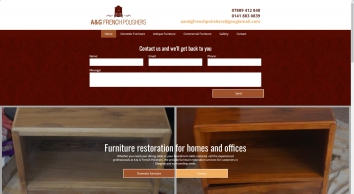 For expert furniture repair in Glasgow, call A & G French Polishers