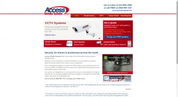 Alarms & Alarm Systems Southampton - Access Intruder Systems, CCTV, Access Control - Southampton Portsmouth Bournemouth