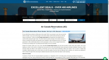 Air Canada Reservations +1-800-795-6208 [60% OFF] Contact Number