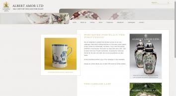 Albert Amor 18th Century English porcelain -  Home