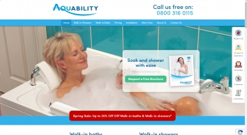 Walk in Baths | Walk in Showers | Shower Baths | Aquability