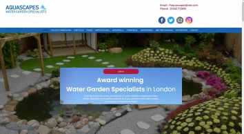 Aquascapes Water Garden Specialists, Surrey & London,  25 years experience