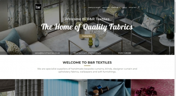 B&R Textiles, Designer Curtain Fabrics, Blinds and Curtains - Bournemouth, Poole, Salisbury, Dorset