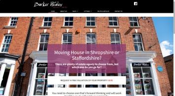 Barker Healey Property Limited Newport Shropshire: Home