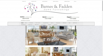 Visit Barnes & Fadden for furniture and beds in Sutton, Epsom & Redhill.