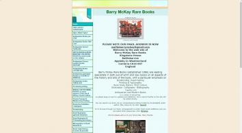 Barry McKay Rare Books