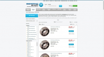 UK\'s #1 sealed, shielded and open type bearings suppliers